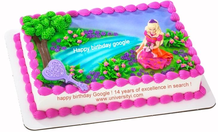 google , google birthday , birthday , cake